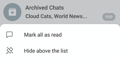 Mark all messages as read in the Archive on Android.