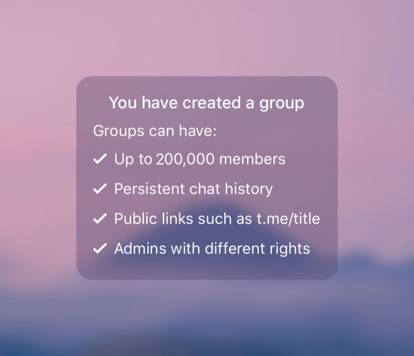 New group, redesigned empty screen